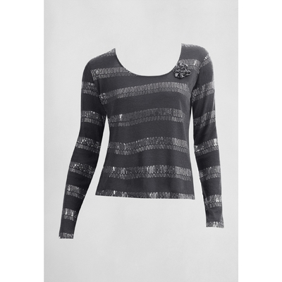 Джемпер женский, размер XS, цвет тёмно-серый FJ577