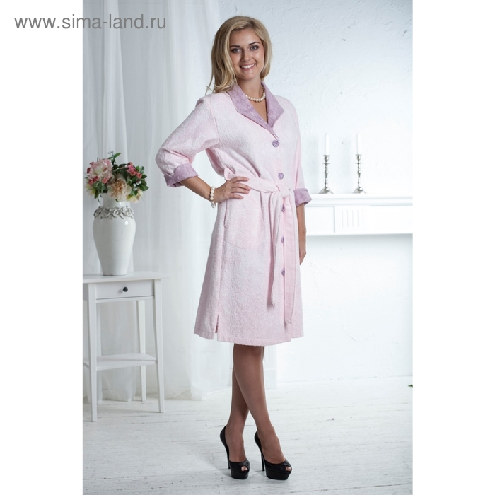 Халат женский Melanie, размер 2XL, цвет розовый 320 г/м2