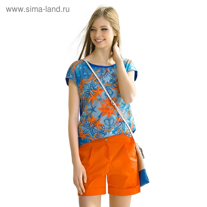 Шорты женские, размер S, цвет оранжевый DWH681