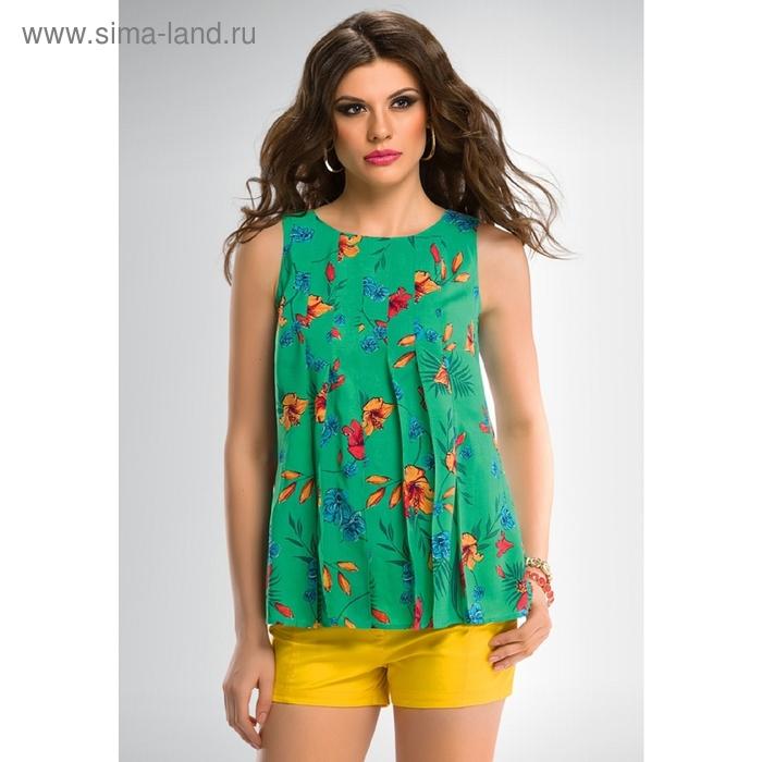 Блузка женская, размер XS, цвет зелёный FWV669/1