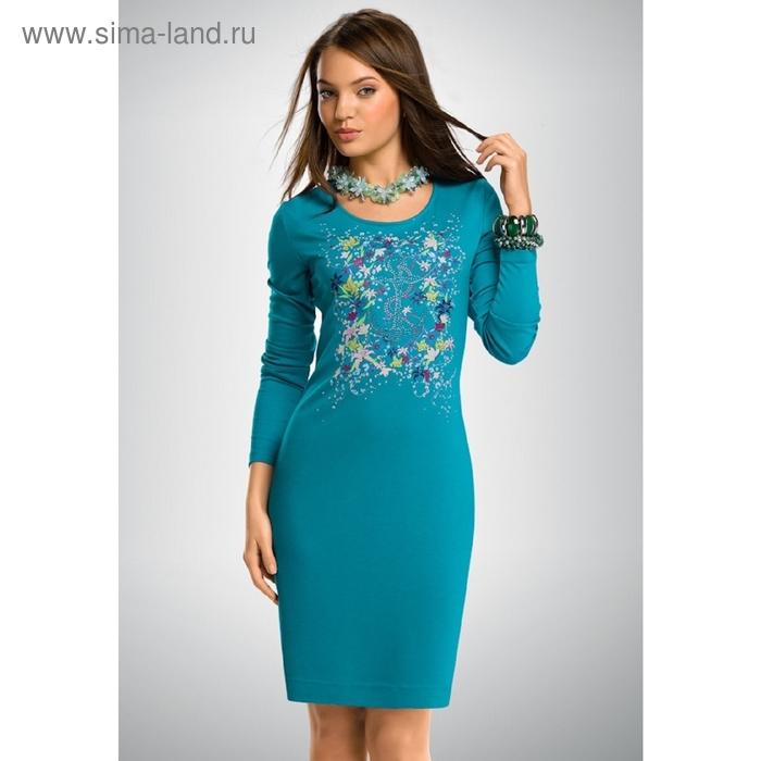 Платье женское, размер М, цвет лазурный FDJ658