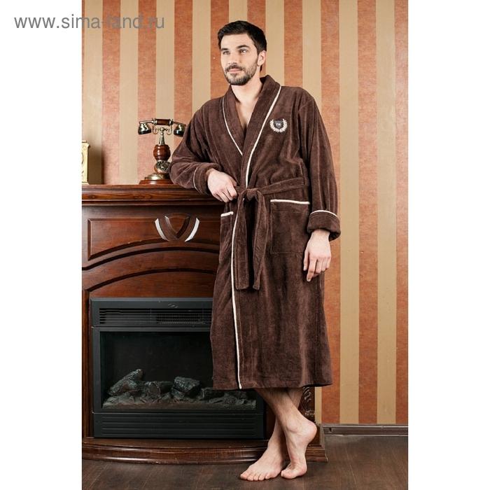 Халат мужской Teylor, размер 3XL, цвет шоколад 350 г/м2