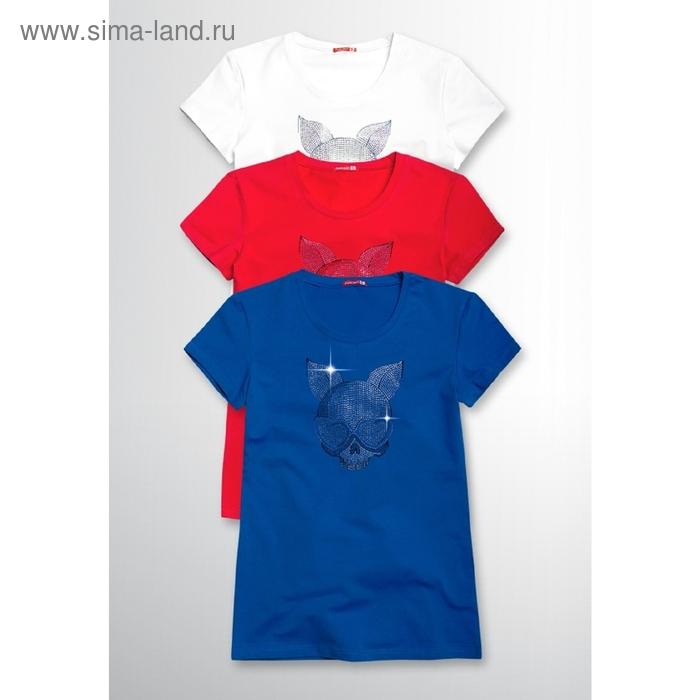 Футболка женская, размер L, цвет синий FT669
