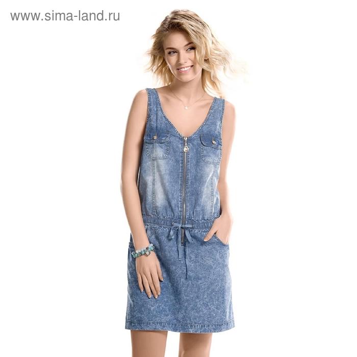 Платье женское, размер M, цвет синий DWD686/1