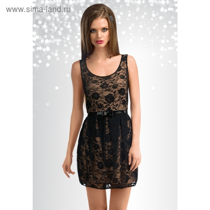 Платье женское, размер S, цвет чёрный FDV613/1