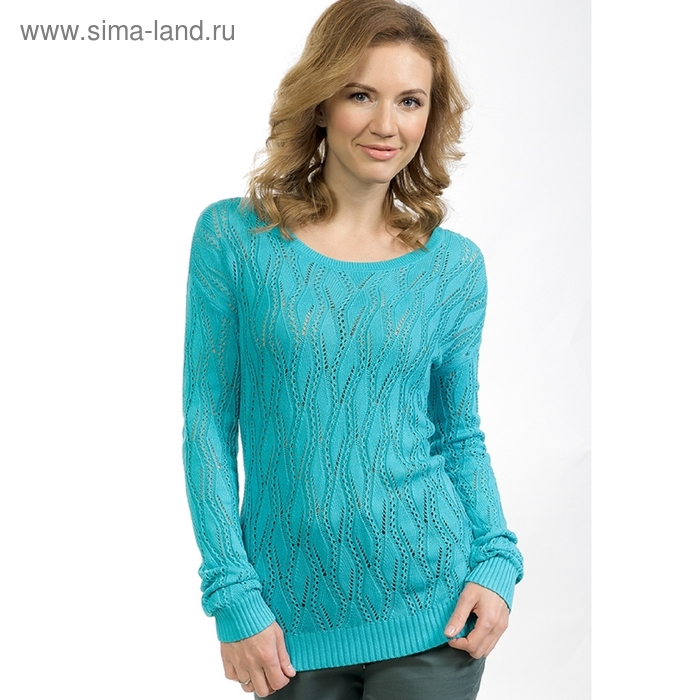 Джемпер женский, размер M, цвет голубой KJ683