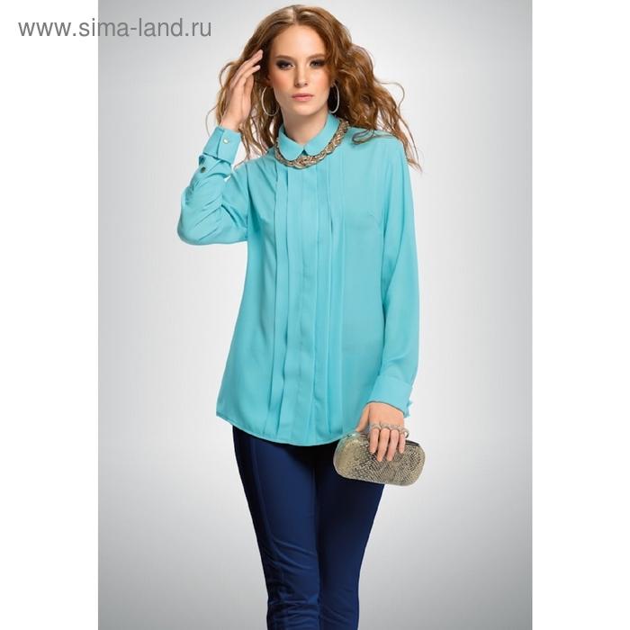 Блузка женская, размер XL, цвет голубой FWJ654