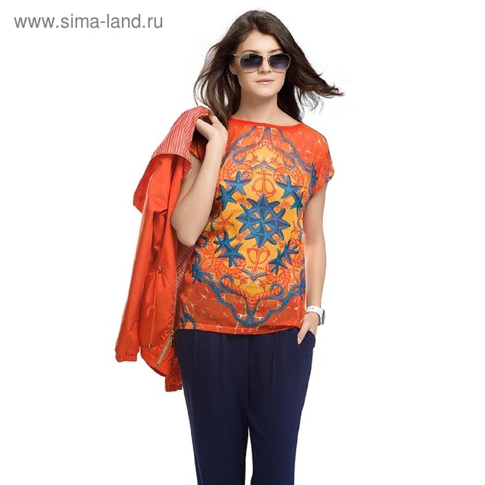 Футболка женская, размер S, цвет оранжевый DT681