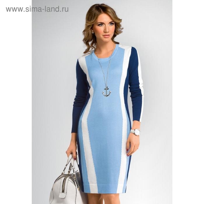 Платье женское, размер S, цвет голубой KDJ657