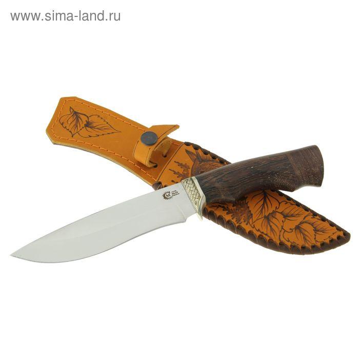 """Нож нескладной """"Близнец"""", кованная  сталь 95х18, рукоять-венге, литье"""