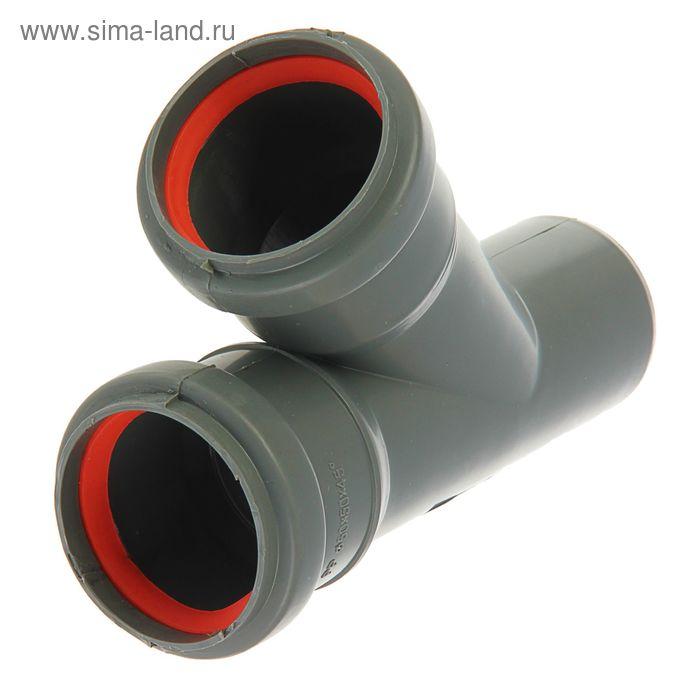 Тройник канализационный, 50 х 50 мм, 45°