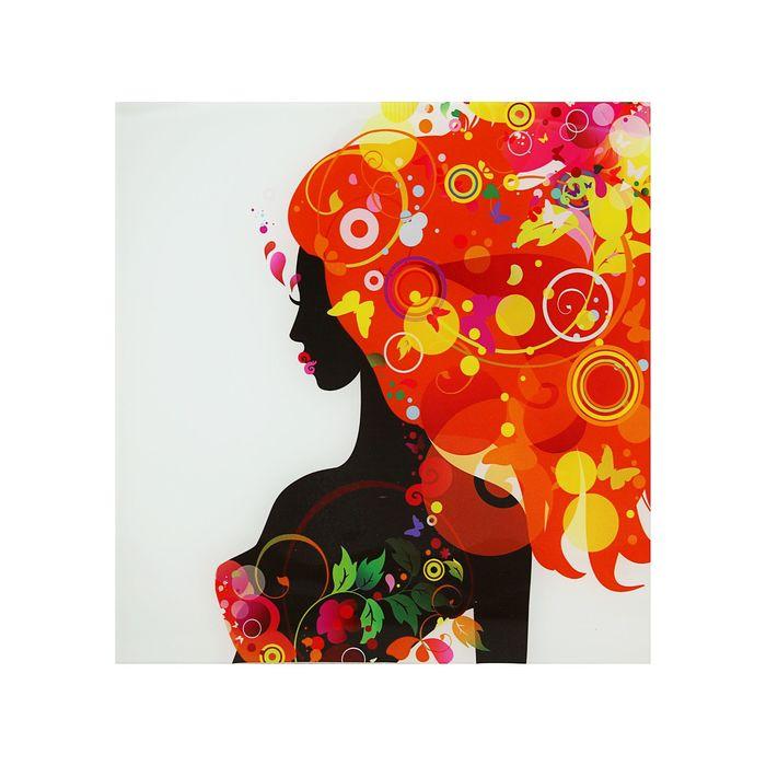 """Картина на стекле """"Оранжевая феерия дамы""""30*30см - фото 1652494"""