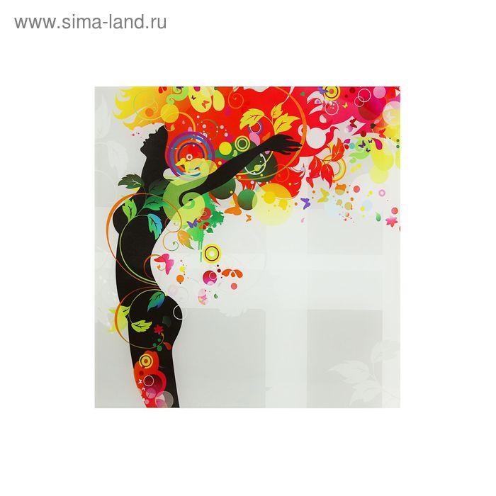 """Картина на стекле """"Цветная радость"""" леди"""