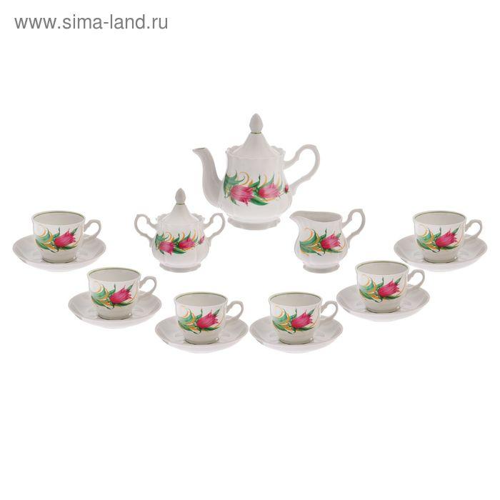 """Сервиз чайный """"Романс. Колокольчики"""", 15 предметов"""