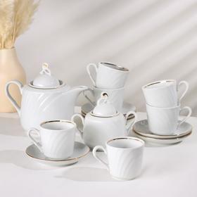 Сервиз чайный Добрушский фарфоровый завод «Голубка. Классик», 250 мл, 14 предметов