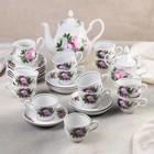 """Сервиз чайный """"Романс. Пион"""", 27 предметов"""