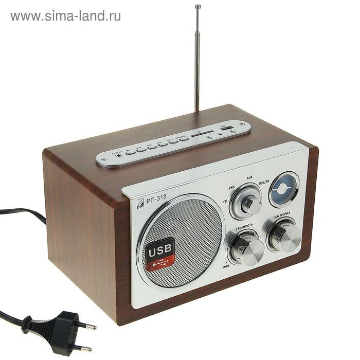 Радиоприемник БЗРП РП-318, USB, SD, 220 В