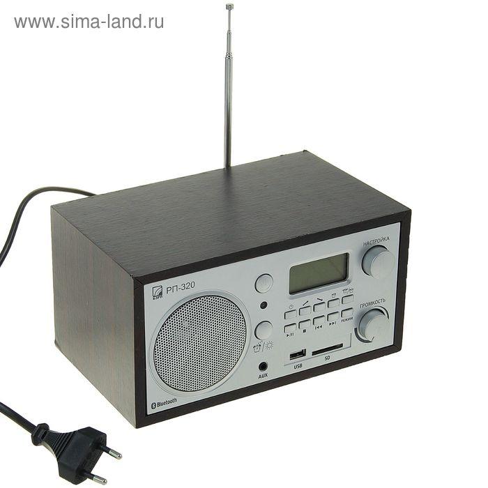 Радиоприемник БЗРП РП-320, темный корпус, 220 В, USB, SD