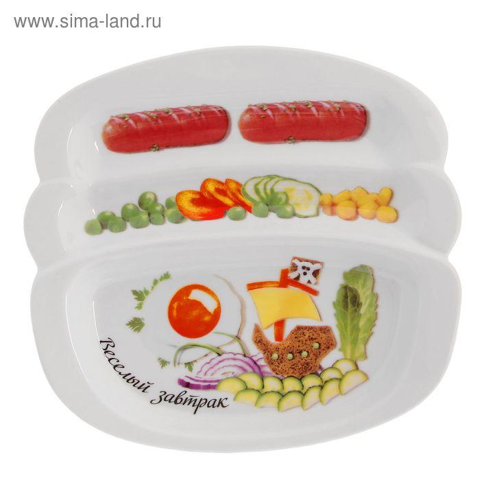 """Блюдо для сосисок 20,5х19 см """"Веселый завтрак. На корабле"""", подарочная упаковка"""