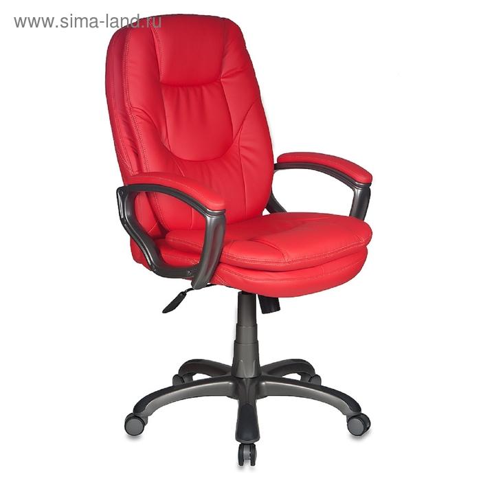Кресло руководителя CH-868AXSN/Red сиденье красный искусственная кожа (пластик темно-серый)   153152