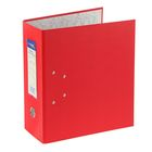 Папка-регистратор А4, 125мм PVC ClassicHC, с 2-мя механизмами, торцевой карман, красный