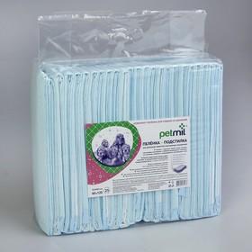 Пеленки впитывающие целлюлозные 60 х 120 см (в наборе 25 шт)