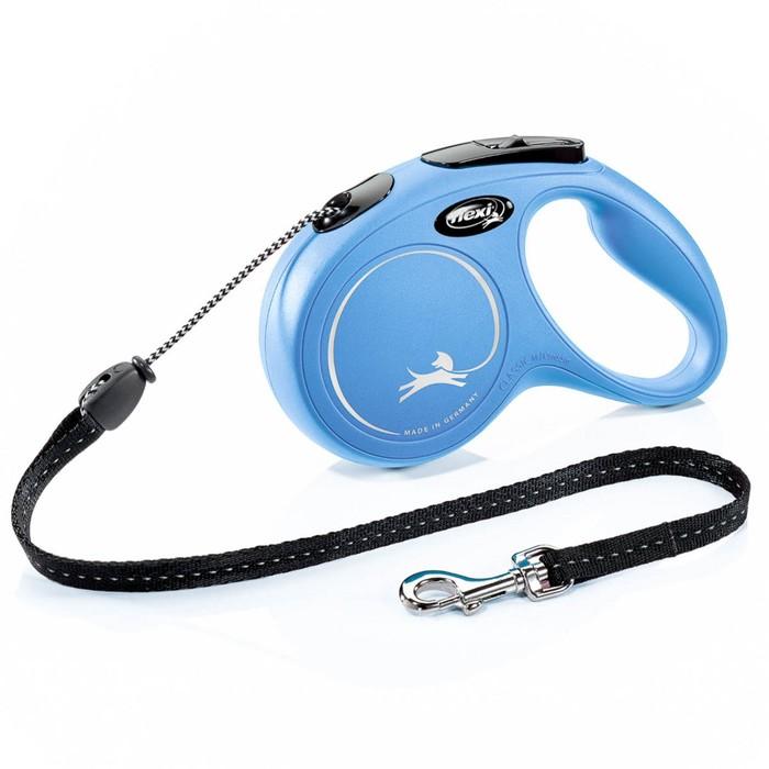 Рулетка Flexi  New Classic  М (до 20 кг) 5 м трос, синяя