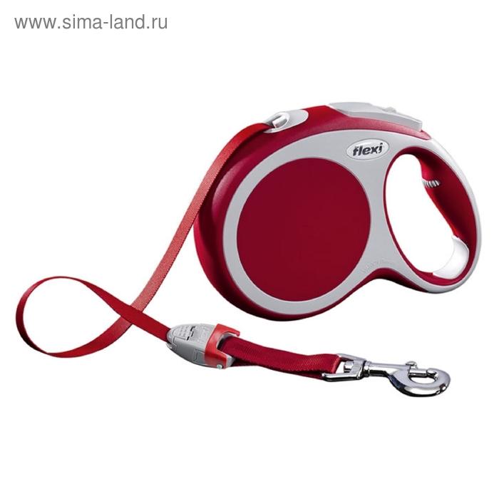 Рулетка Flexi  VARIO L (до 50 кг) 8 м лента, красная