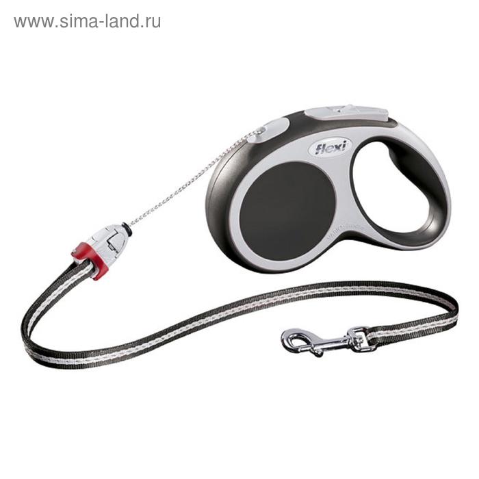 Рулетка Flexi  VARIO M (до 20 кг) 8 м трос, антрацит
