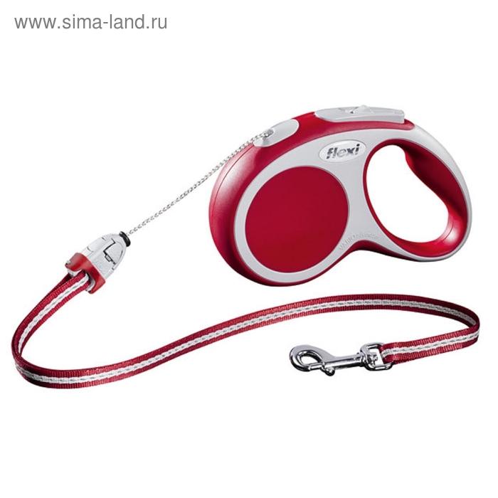 Рулетка Flexi  VARIO S (до 12 кг) 5 м трос, красная