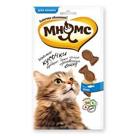 Лакомые кусочки Мнямс для кошек в форме рыбок, со вкусом лосося, 35 г