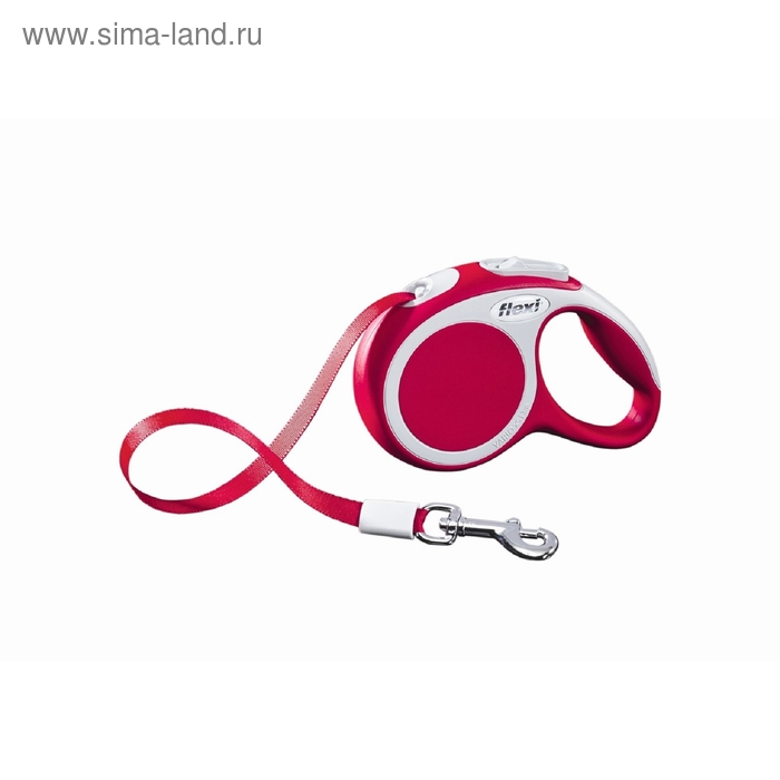 Рулетка Flexi  VARIO XS (до 12 кг) 3 м лента, красная
