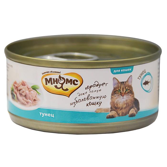 Консервы для кошек Мнямс тунец в нежном желе, 70 г
