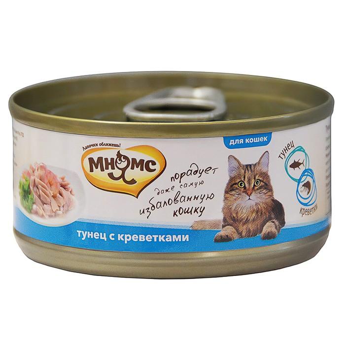 Консервы для кошек Мнямс тунец  с креветками в нежном желе, 70 г