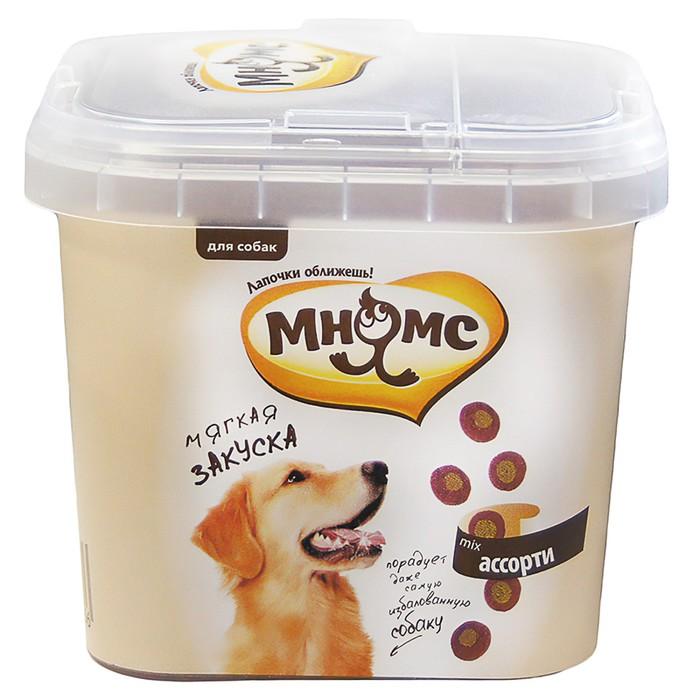 """Лакомство Мнямс """"Мягкая закуска ассорти"""" для тренировки собак, 140 г"""