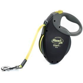 Рулетка Flexi  Giant Neon L (до 50 кг) со светоотражающим ремнем, 8 м