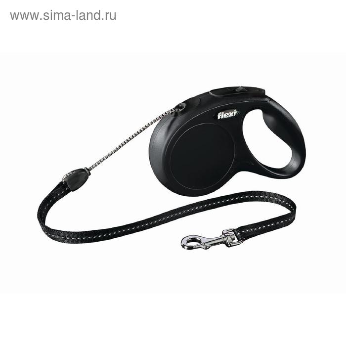 Рулетка Flexi  New Classic S (до 12 кг) 8 м трос, черная