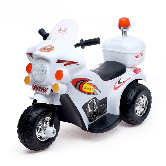Электромобиль «Мотоцикл шерифа», цвета МИКС