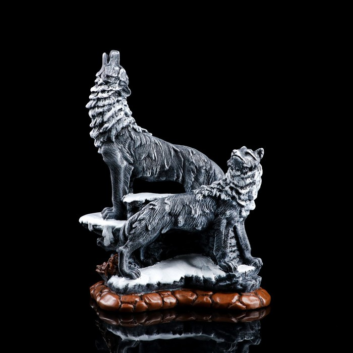 "Сувенир ""Два волка"" серый"