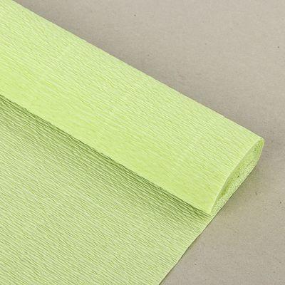 "Бумага гофрированная, 966 ""Прозрачно-зелёная"", 50 см х 2,5 м"