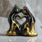 "Копилка ""Котики с сердцем"" мини, глянец, чёрно-золотая"