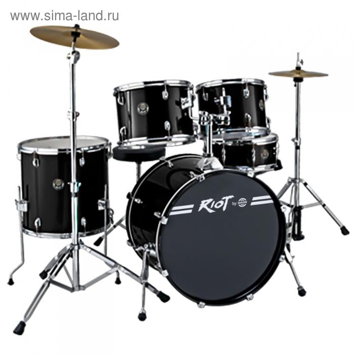 Барабанная установка DIXON Riot PODRT520BK-NC цвет чёрный