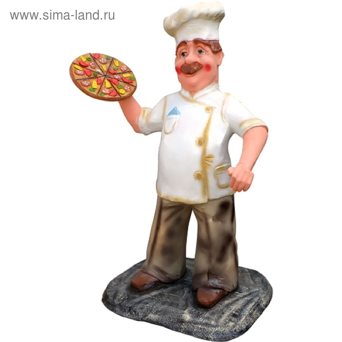 """Садовая фигура """"Повар с пиццей"""""""