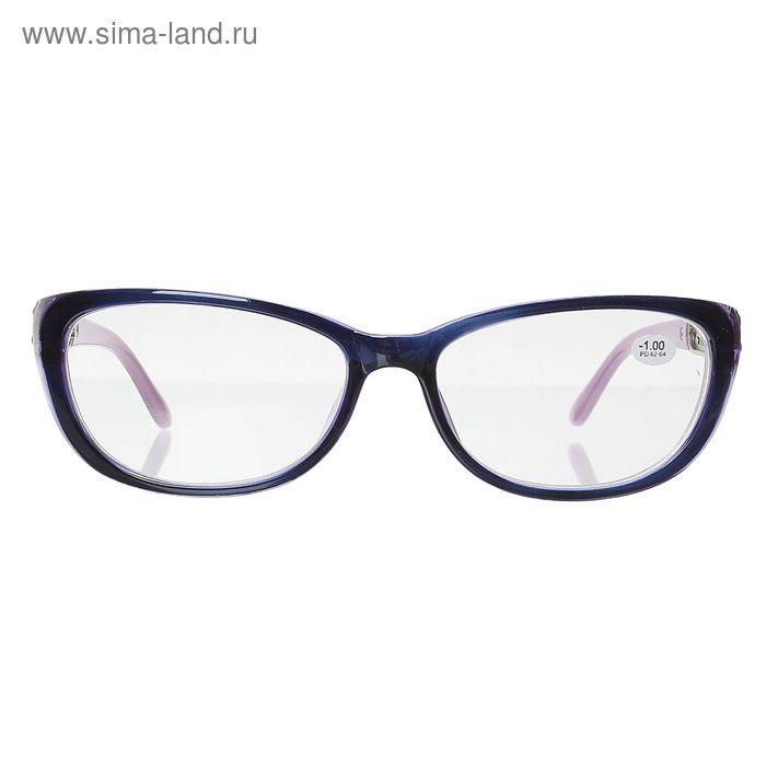 """Очки """"Бабочки"""", пластик, резная дужка, цвет фиолетово-сиреневый, -1 дптр"""