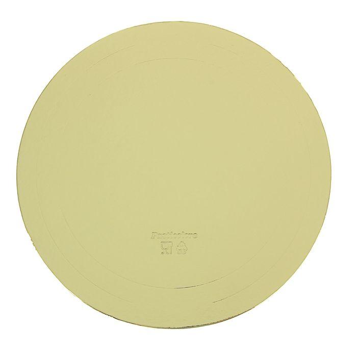 Подложка усиленная, 32 см, золото, 2,5 мм - фото 308035193