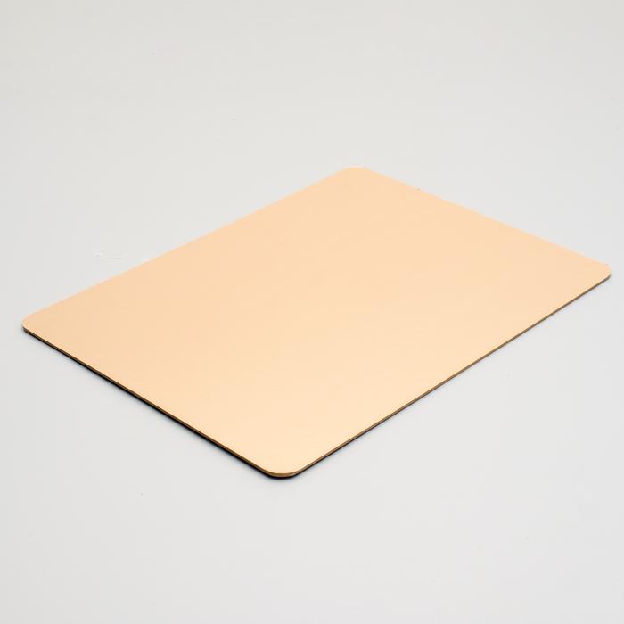 Подложка усиленная, 30 х 40 см, золото-жемчуг, 3,2 мм