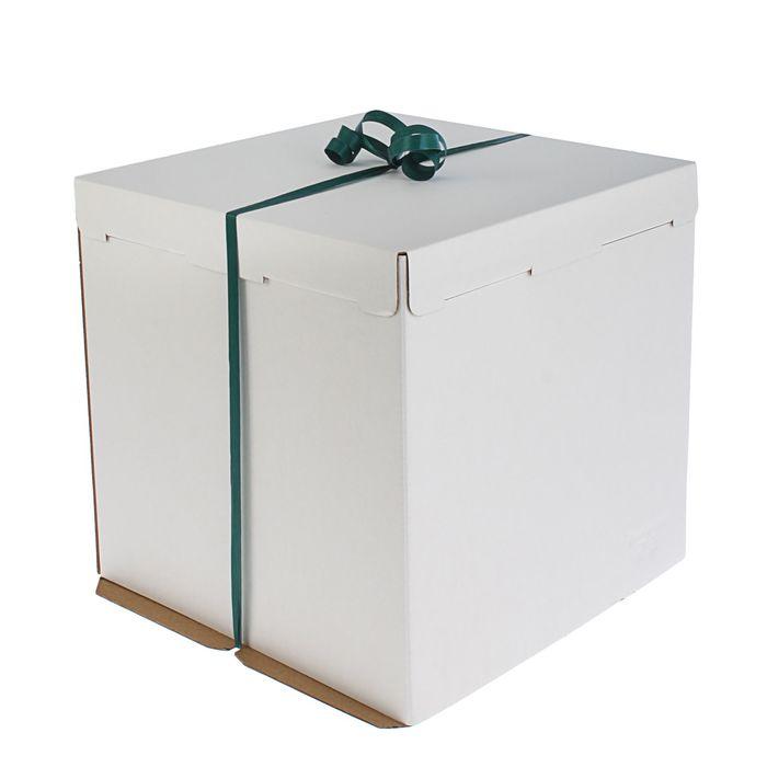 Кондитерская упаковка, короб белый 30 х 30 х 30 см