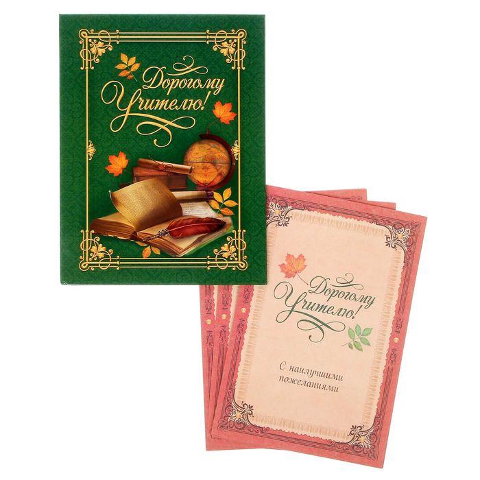 """Подарочная папка с поздравительными бланками от учеников """"Дорогому учителю"""""""