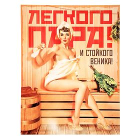 Плакат банный 'Легкого пара и стойкого веника', А2 Ош