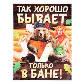 Плакат банный 'Так хорошо бывает только в бане', А2 Ош